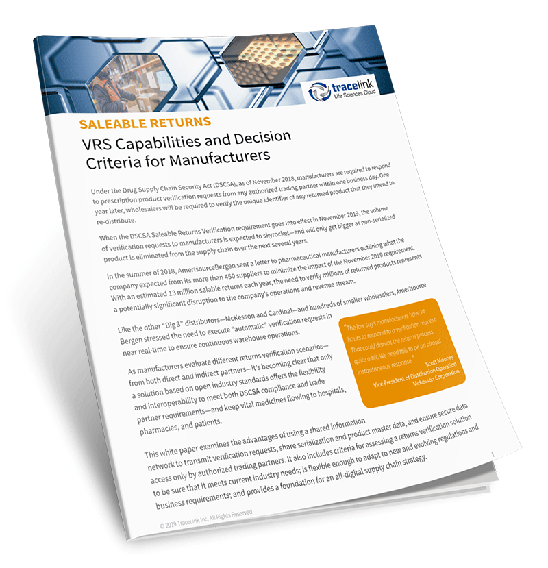 Cover of VRS Capabilities Whitepaper